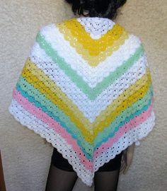Dreieckstuch mit einem Muschelmuster Beanie, Crochet, Material, Shawl, Clams, Homemade, Handarbeit, Cotton, Patterns