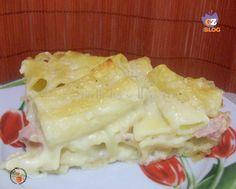 Pasticcio di rigatoni al forno in bianco - ricetta primo leggero