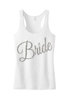 Wedding Gift Bling Tank Top Shirt New Juniors Rhinestone MOTHER OF THE BRIDE