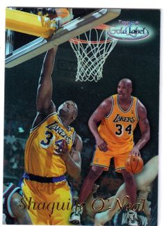 2 1998 - 1999 Topps Gold Label Shaquille O'Neal Los Angeles Lakers