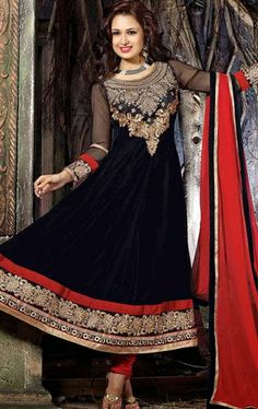 Picture of Elegant Black Designer Wedding Salwar Kameez