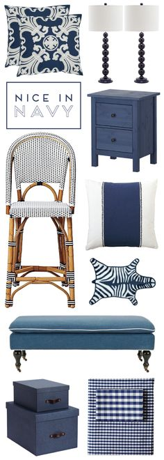 nice in navy: nine ways to weave navy into your home decor.