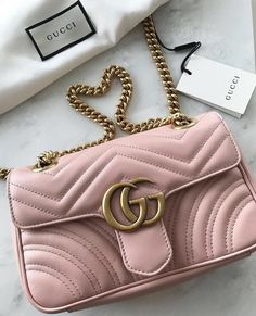 Fall is the perfect time for dark coloured purses but I would save a space  for this cute pink Gucci. d2205a830cc13