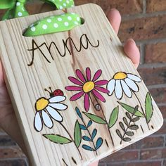 Wood burned and hand painted sign kids room sign