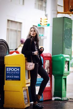 outfit | wearing a chloe drew bag and a sonia rykiel shirt | New York street style