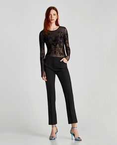 ZARA - WOMAN - TULLE BODYSUIT WITH OPEN BACK