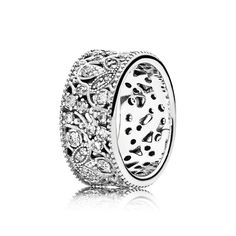 Shimmering Leaves, Clear CZ | Sterling Silver | PANDORA US