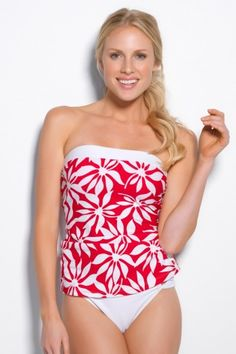 Dancing Leaves Classic Bandeau Tankini - 20% off with code violet20