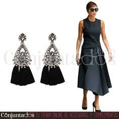 Pendientes Irma ★ 13'95 € en https://www.conjuntados.com/es/pendientes/pendientes-irma-con-strass-y-borlas-negras.html ★ #novedades #pendientes #earrings #flecos #borlas #fringes #conjuntados #conjuntada #joyitas #lowcost #jewelry #bijoux #accesorios #complementos #moda #eventos #bodas #invitadaperfecta #perfectguest #party #fashion #fashionadicct #fashionblogger #blogger #picoftheday #outfit #estilo #style #streetstyle #GustosParaTodas #ParaTodosLosGustos