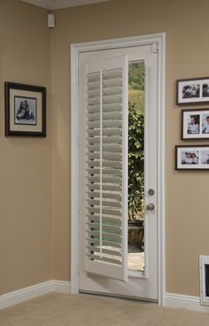 Hmmmm Nerver Thought About Using Plantation Shutters For The Back Door Decorating