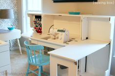 IHeart Organizing: Reader Space: A Craftaholic's Craft Room    Sewing station envy
