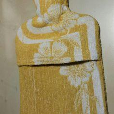 Wärmflaschenhülle aus Handtuch inkl. Anleitung / Hot water bottle cover made from towel incl. tutorial / Upcycling