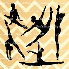 5 Dancers SVG cut files, Ballerina SVG files, Split ballet svg, Cricut, Dxf, PNG, Vinyl, Eps, Cut Files, Clip Art, Vector, Silhouette by SVGEnthusiast on Etsy