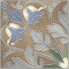 Jugendstil - Fliese - Art Nouveau Tile - Tegel - Akelei