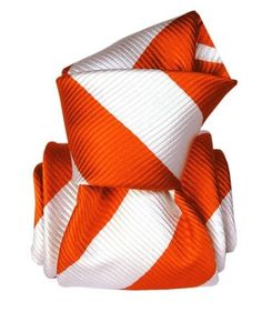 orange and white silk tie-New in stock White Silk, Silk Ties, Hand Weaving, Colours, Texture, Handmade, Canada, Italy, Free Shipping