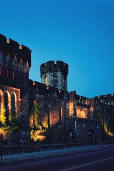 Eastern State Penitentiary is so pretty at night! #Philly #BeenThere