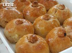 Ev Yapımı Nefis Şekerpare - Leziz Yemeklerim Doughnut, Hamburger, Bread, Desserts, Food, Tailgate Desserts, Deserts, Breads, Baking