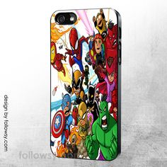 Baby Marvel Superhero iPhone 4 4S 5 5S 5C 6 iPod Touch 4 5 Samsung Galaxy S5 S4 S3 Case Galaxy Note 3 Case