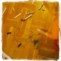 Dagens værk: crayola på parket. - @mettesanggaardschultz- #webstagram