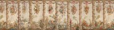 Wallpaper A set of five Aubusson tapestries from the Green Dining Room at Leeds Castle. Green Dining Room, Leeds Castle, Scenic Wallpaper, Farm Tools, Architrave, Wall Decor, Tapestry, Printed