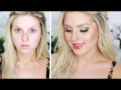 ▶ Summer Christmas Glamour! ♡ Gold Glitter & Glossy Lips! - YouTube