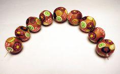 PANTONE Koi Handmade Beads Polymer Clay Set by SweetchildJewelry, $22.50