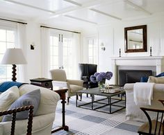 beach house decorating | love love love that rug! The size, the clean graphic pattern and the ...
