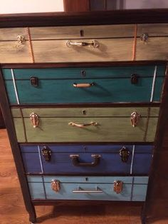 suitcase dresser @ Blue Hummingbird