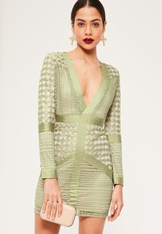 00290eea6e Take the plunge and amp up your outfit game wearing this sage green bodycon  dress -