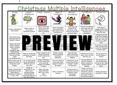 Home :: Resource Type :: Activity Based Learning :: Christmas with Multiple Intelligences Choices Grid Gardner Multiple Intelligences, Activity Based Learning, Making Ten, Christmas Themes, Grid, Choices, Activities