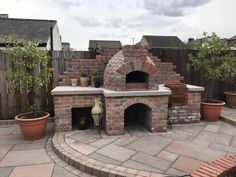 A fantastic brick built pizza oven which forms part of a large garden, featuring Indian Sandstone paving from Marshalls. Diy Outdoor Furniture, Outdoor Decor, Sandstone Paving, Pizza Oven Outdoor, Garden Makeover, Pizza Ovens, Brick Patios, Garden Living, Brick Building