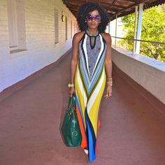 Exotic long Colorful African print maxi dress- 39.99 & free shipping