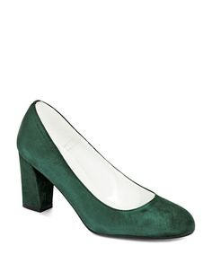 Ron White Callie Suede Leather Pumps Green