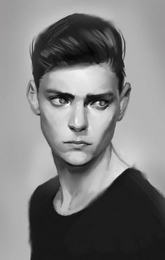 Drawing faces male anime Ideas - Rebel Without Digital Portrait, Portrait Art, Digital Art, Male Portraits, Portrait Poses, Digital Painting Tutorials, Art Tutorials, Art Sketches, Art Drawings