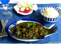 Turmeric & Saffron: Ghalieh Mahi - Southern Iranian Spicy Fish & Herb Stew