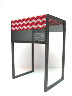 XSTITCH STOOL by Debra Folz | MOre on: http://www.pinterest.com/AnkAdesign/collection-6/