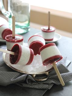 Raspberry Coconut Chia Popsicles for your summer enjoyment