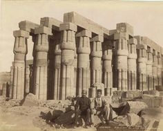 Colonnade of Amenhotep III at Temple of Amun at Luxor.Photo by Zangaki Brothers,Greek, between 1870s-1890s. 🌹