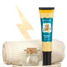 Zit Zapper   Perfectly Posh  Got a pimple and a major event coming up? The zit zapper will get rid of those nasty blemishes overnight! I am speaking from experience!!!