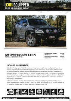 Product Information, Offroad, Toyota, Car, Automobile, Off Road, Vehicles, Autos
