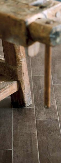 Tile that looks like wood.... this is really cool. For entry way on a home that doesn't have a mud room.  or bathrooms