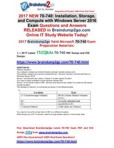 [Full-Versions]2017 New 70-740 PDF and 70-740 VCE Dumps 152q Free Share(89-100)