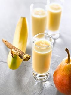 Healthy Smoothies, Healthy Drinks, Healthy Recipes, Fruit Juice Recipes, Smoothie Recipes, Clean Eating Recipes, Cooking Recipes, Health 2020, Banana Fruit