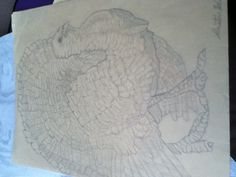 sketch of a turkey by Kristin Weaver