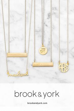 Customizable Jewelry you'll Live and Love in. Beautifully crafted and Made in the USA. Free Shipping & Personalization - brookandyork.com