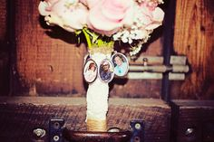 Memory bridal bouquet for a rustic barn wedding ceremony and reception styled by Homestead Chic at Kennekuk Cove County Park in Danville, IL  Photographed by Studio 24