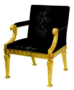 Beautiful George II Library Chair Design By William Kent Design Inspirations