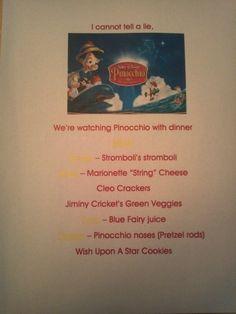 Disney Dinner Nights - Pinocchio