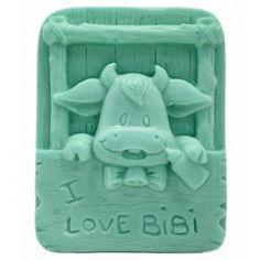 Molde de silicona infantiI, I love Bibi. Este molde de silicona puede utilizarse para hacer jabones de glicerina. Es un molde 2D que puedes utilizar para hacer jabones como detalles de bautizo.
