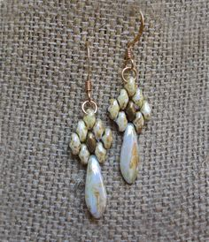 White and gold duo dagger necklace set by masasha on Etsy